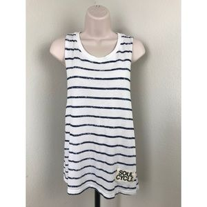 Soulcycle Blue Striped Tank